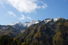 雪化粧の富良野岳