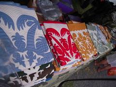 Hawaiian quilts (BrianinLR) Tags: hawaii maui applique swapmeet hawaiianquilt