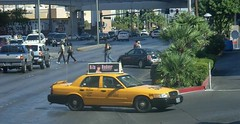 Yellow Cab (Nick Leonard) Tags: road street people green cars car yellow photography lasvegas cab taxi nevada nick palmtrees transporation yellowcabco nickleonard