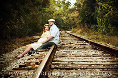 .On the Tracks. (Liza Edith Photography) Tags: family portrait art texture train vintage infant couple artistic florida father fine mother tracks pregnant maternity newborn erica todd railing expecting lifefocus wwwlizaedithphotographycom