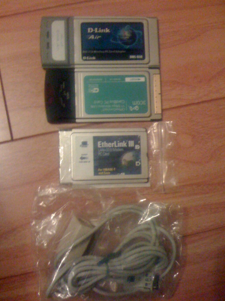 PCMCIA cards (Wi-Fi wireless & Ethernet) $10/each or $20 to take them all