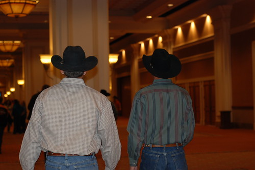 The path to the Cowboy Marketplace wasnt well marked. But you could just follow the guys in the hats.