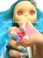 macaroon, the stars shine bright (aya1gou) Tags: art girl japan doll hand nail blythe nailart japanesefashion gelnail uvgel