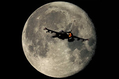 A Big Moon Tonight! (Kris Klop) Tags: usa moon plane canon airplane fly us flying airport december aircraft aviation flight fullmoon f16 12th viper usaf dsm desmoines xsi iang fightingfalcon december12th closefullmoon closestfullmoon