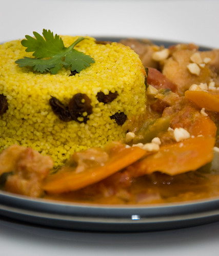 african inspired peanut chicken stew with couscous
