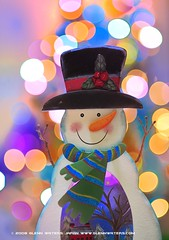 Snowman Bokeh  (Explored) 10,000 visits to this photo. Thank you.
