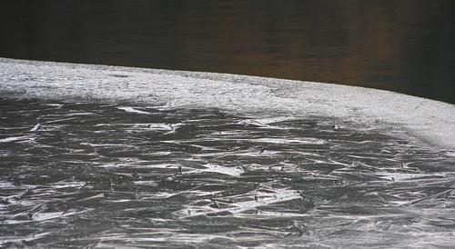 Jég a Malomvölgyi tavon