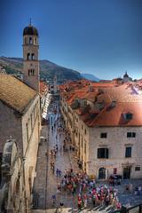 Dubrovnik Old Town (Michael Cavn) Tags: blue summer sky people croatia oldtown dubrovnik hdr 2007 photomatix