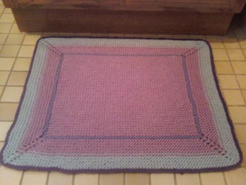 Simple Cotton Bath Mat by Ms. Kris.