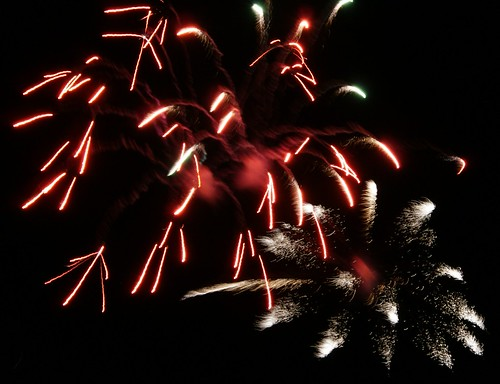 Fireworks on new years eve