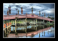 My first HDR (chris_speuz) Tags: bridge reflection water dreamworld soe hdr bankok supershot addictedtoflickr overtheexcellence goldstaraward dragondaggerawards