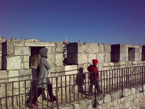 on the ramparts of the old city