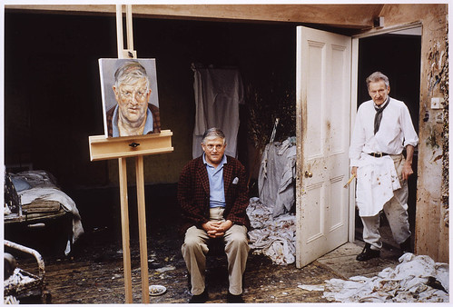 Freud, Lucian (1922- ) in his Studio with David Hockney by David Dawson by RasMarley