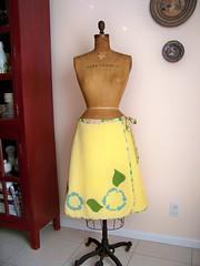 Yellow Blanket Skirt Front