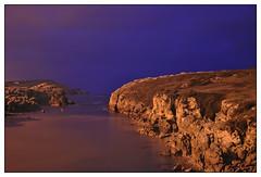 Low tide (Virgen del Mar) (Guillermo Fdez) Tags: blue sea espaa azul mar spain hora bluehour lowtide bajamar cantabria virgendelmar horaazul