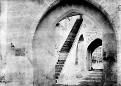 Pont Valentr, escalier, Cahors, 1891 (bibliothequedetoulouse) Tags: bridge bw brick stairway escalier cahors 1891 pontvalentr bibliothquedetoulouse commons:event=commonground2009