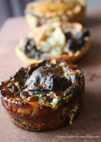 Champignons - Epinards Version Quiche Sans Pâte