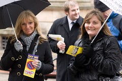 BNP10 Elise Jones BNP SCUM on left (Paulies Pictures) Tags: party scotland dundee angus wing right national british bnp tayside activists bnpscotland