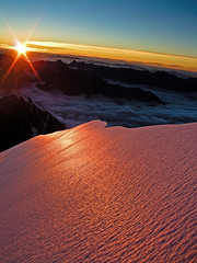 Sunrise on  very icy Ledenfeld (radson1) Tags: newzealand glacier alpine mountaineering southernalps alpinism alpineclimbing radson