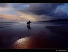 Sea of Solitude (Raimbaud) Tags: blue sea horse cloud reflection beach reflexions horseman photon amazone galope mybestphotos outstandingshots skycloudssun visiongroup infinestyle bratanesque exphoto themonalisasmile thenewselectbest mwqio