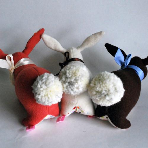 Bunny trio derrieres