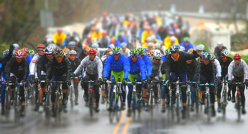 Bicycles in the rain Winters California