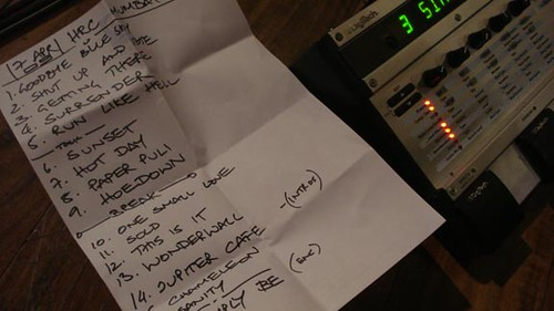 TAAQ Hard Rock Cafe Mumbai - Set List