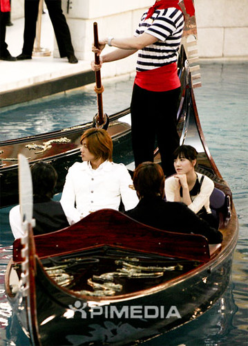 they rode the Gondola Ride at the Venetian Canal