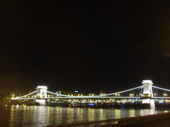 The Budapest Chain Bridge by night