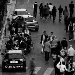 Happy hour on the road (gilmolm) Tags: road street blackandwhite italy car canon happy photography is strada italia streetphotography powershot hour cassino nothing happyhour biancoenero sx110 canonpowershotsx110is mygearandme mygearandmepremium ringexcellence