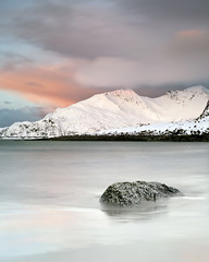 Grotfjord (peterspencer49) Tags: ocean winter sunset sky mountain snow seascape beach norway clouds coast cliffs artic seaview arcticcircle seascene cosatline oceanveiw 5dmkll peterspencer