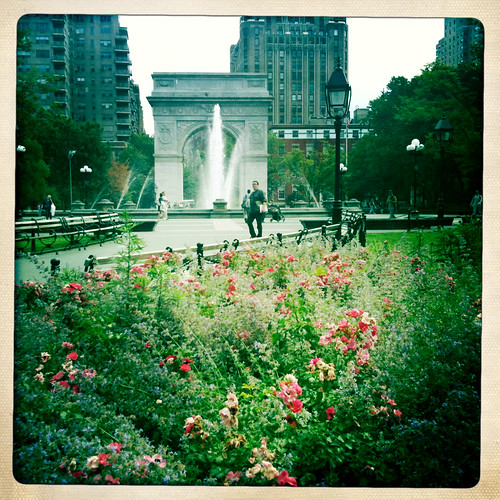 Good morning from Washington Square Park