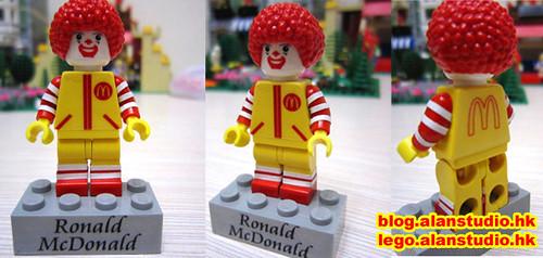 Custom minifig Ronald McDonald