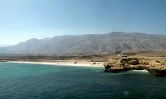 Fins Beach (twiga_swala) Tags: ocean sea beach golf landscape coast scenery gulf indian cliffs east coastal sur arabian middle peninsula oman fins  sultanate