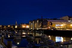 Trondheim (Tor-Inge Langberg) Tags: city water norway by river norge norwegen noruega bluehour trondheim bt vann norvegia nidelva norvege bltimen elv bter nidelven bltime
