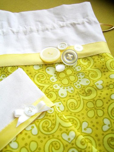 Yellow craft pouch set