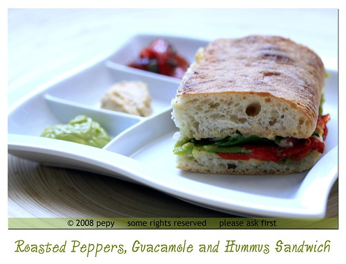 Roasted Red Peppers Sandwich