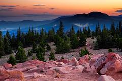 Dawn on Baldy Mountain (Eric Wolfe) Tags: usa mountains newmexico sunrise landscape dawn unitedstates forests philmont cimmaron baldymountain original:filename=200507252678jpg mountphillips