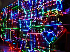 The United States by Nam June Paik (P.Timer) Tags: california ohio arizona usa newyork newmexico art oklahoma minnesota oregon southdakota georgia virginia weird washington illinois newjersey louisiana nebraska montana texas unitedstates pennsylvania michigan kentucky nevada alabama southcarolina maryland indiana northcarolina lakemichigan idaho missouri northdakota kansas arkansas delaware wyoming misery namjunepaik oregone misissippi ptimer neonsculpture televisionart teneseee delawho pavelsdog