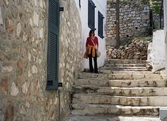Hydra Main Street (Ed Chadwick) Tags: leica film kodak greece portra m2 hydra 160nc