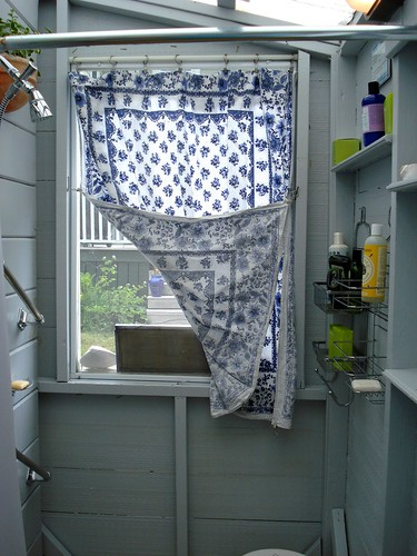 inside the outdoor shower