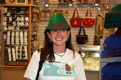 Tracy would make a great Santa's helper! (Brite Yellow) Tags: colorado northpole santasworkshop believeit believeittour phototracy