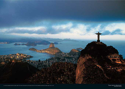 The Corcovado overlooking the city of Rio de Janeiro, Brazil. Image courtesy of Yann Arthus-Bertrand