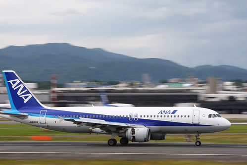 ANA's A320-200 at Osaka Airport