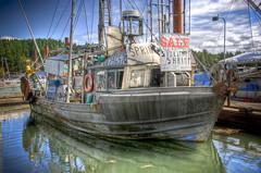 Trawler (nrtphotos) Tags: ocean canada island boat high fishing aluminum waves dynamic steel crab columbia numbers adobe british hull saltspring range current hdr trawler tides lightroom