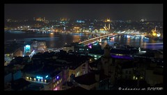 Istanbul - From Galata Tower with Love (ahandre) Tags: tower night istanbul galata karakoy eminonu koprusu iskelesi