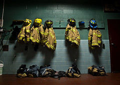 Night Shift (Matthew Rice.) Tags: rescue hot brick dark fire nikon downtown gloomy pants boots nightshift adobe fireman d200 firehouse cinderblock firedepartment jackets frederick helmets lightroom downtownfrederick 18200mmf3556gvr aplusphoto