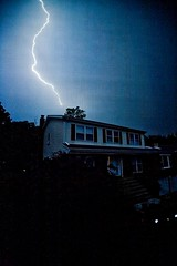 Shocking (sweet n' sour) Tags: sky house nature rain weather night clouds dark thunderstorm lightning thunder
