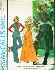 McCall's 5261 (PatternJunkie/Gremly Girl) Tags: blue dress wrap jumper etsy 1970s 1976 tunic mccalls vintagefashion dressaday artillustration vinatgesewingpatterns