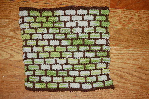 45 stitch ballband dishcloth, Lily Sugar'n Cream